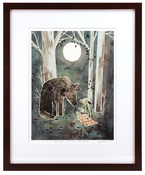 The Wolf, The Duck, & The Mouse Pg. 33 (framed), Jon Klassen