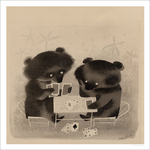 Bears Playing Cards, Mary Blair