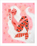 Cherry Floral Mermaid (Print), Neysa Bove