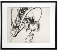 My Fair Lady Movie Poster Sketch (Audrey Hepburn and Rex Harrison), Bob Peak