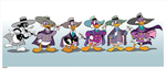 Darkwing Through The Ages by James Silvani (PRINT), James Silvani