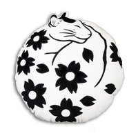 Flower Cat Throw Pillow