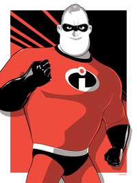 Cyclops Print Works Print #90: Mr. Incredible by Craig Drake