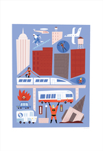 Incredibles 2: Busy City (print), Alexander Vidal