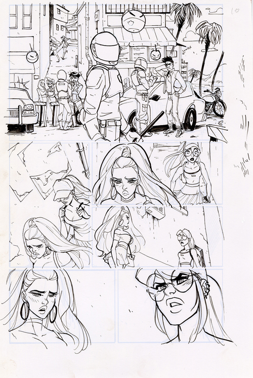 Motor Crush Vol. 2 Original Comic Page #10C (UNFRAMED) , Babs Tarr
