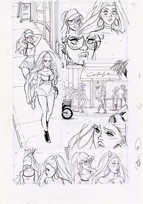 Motor Crush Vol. 2 Original Comic Page #9C (UNFRAMED) , Babs Tarr