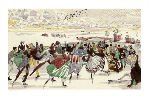Ice Skate (print), Mary Blair